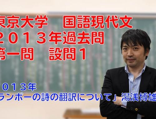 東京大学 国語現代文2013年過去問第一問設問1解説講義