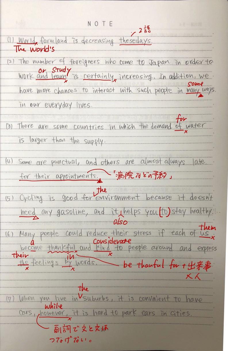 受験生英作文解答⑥
